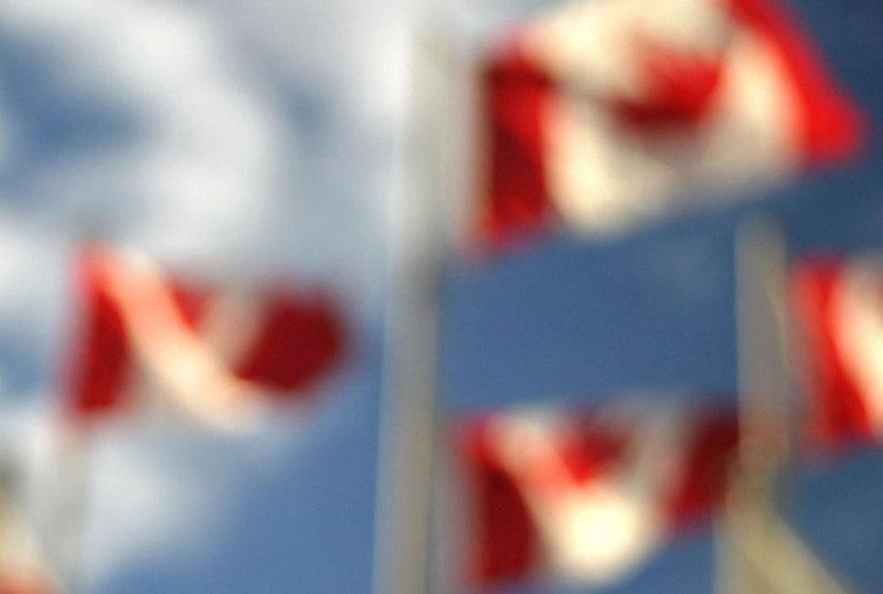 canada kanada flags wappen fahne blur verschwommen