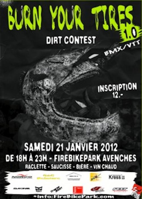 Flyer Burn your Tires im Firebikepark.com