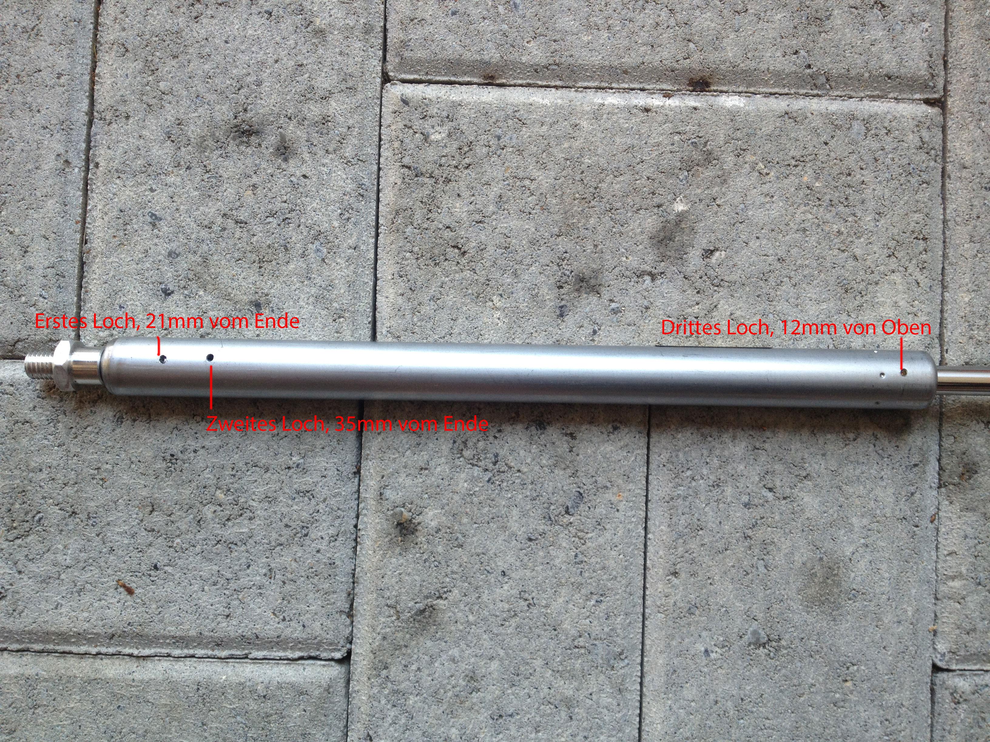 Marzocchi 55 2008 - Federweg ausnutzen - Dämpferkartusche Zugstufe links