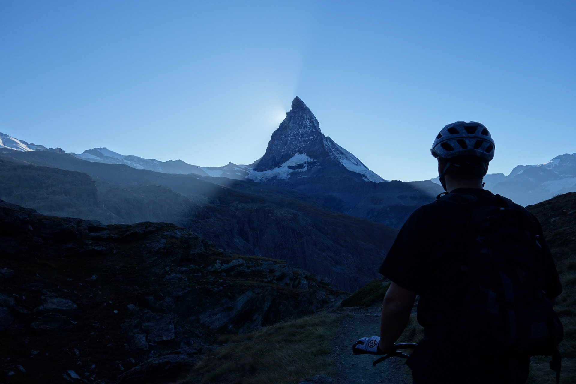 zermatt matterhorn bike sunset