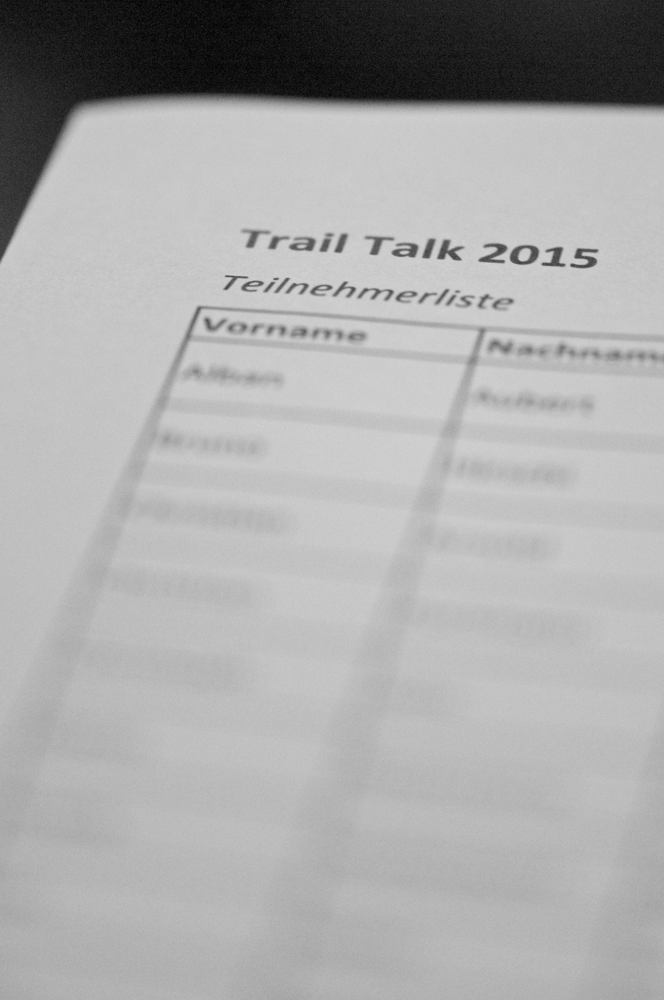 trail talk 2015